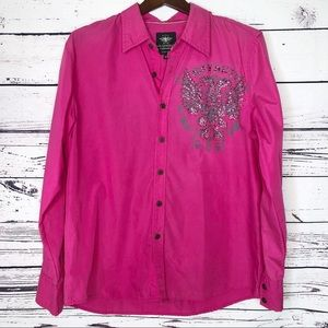 Men's el general studded button down shirt